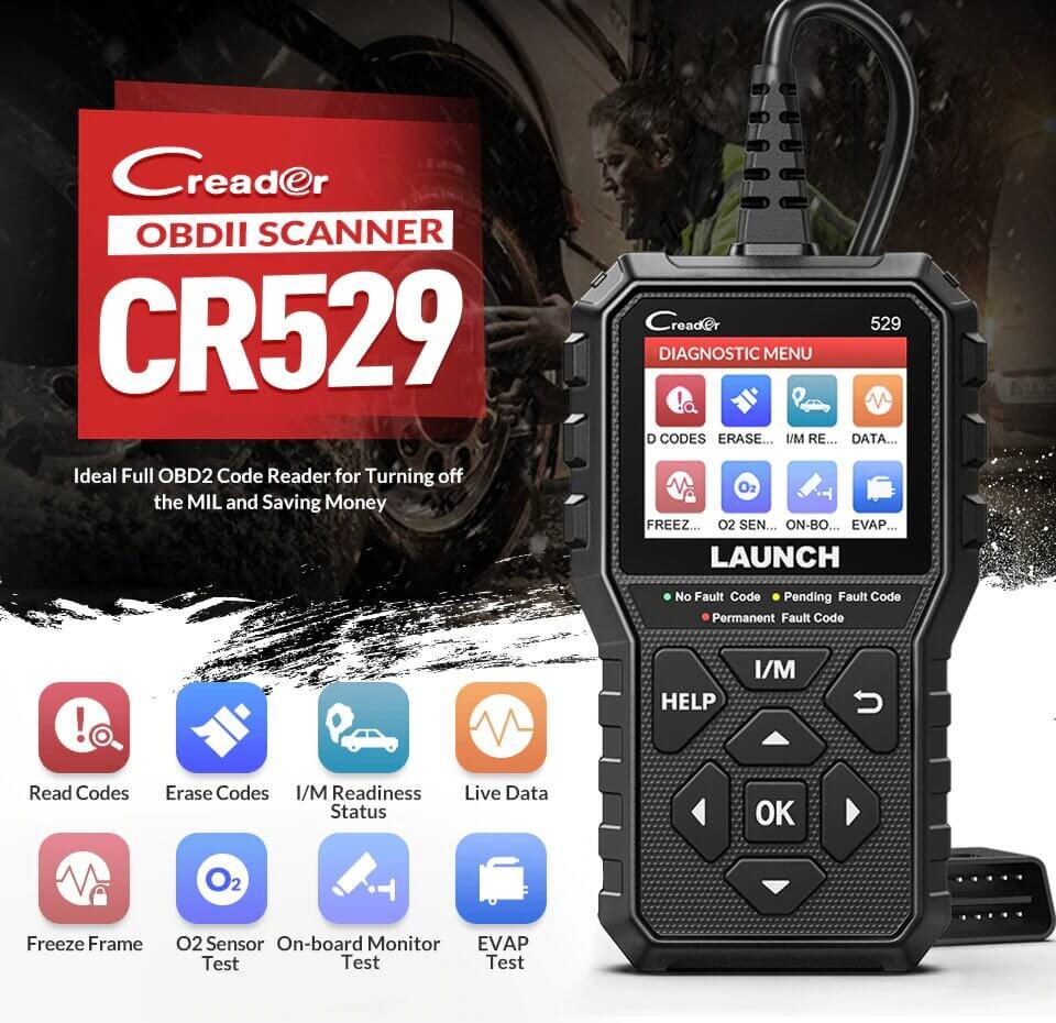 Сканер LAUNCH Creader CR529. Описание функционала и возможностей
